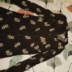 H&M sundress black sunflower print